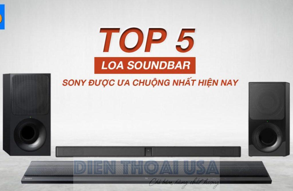 mẫu loa soundbar Sony